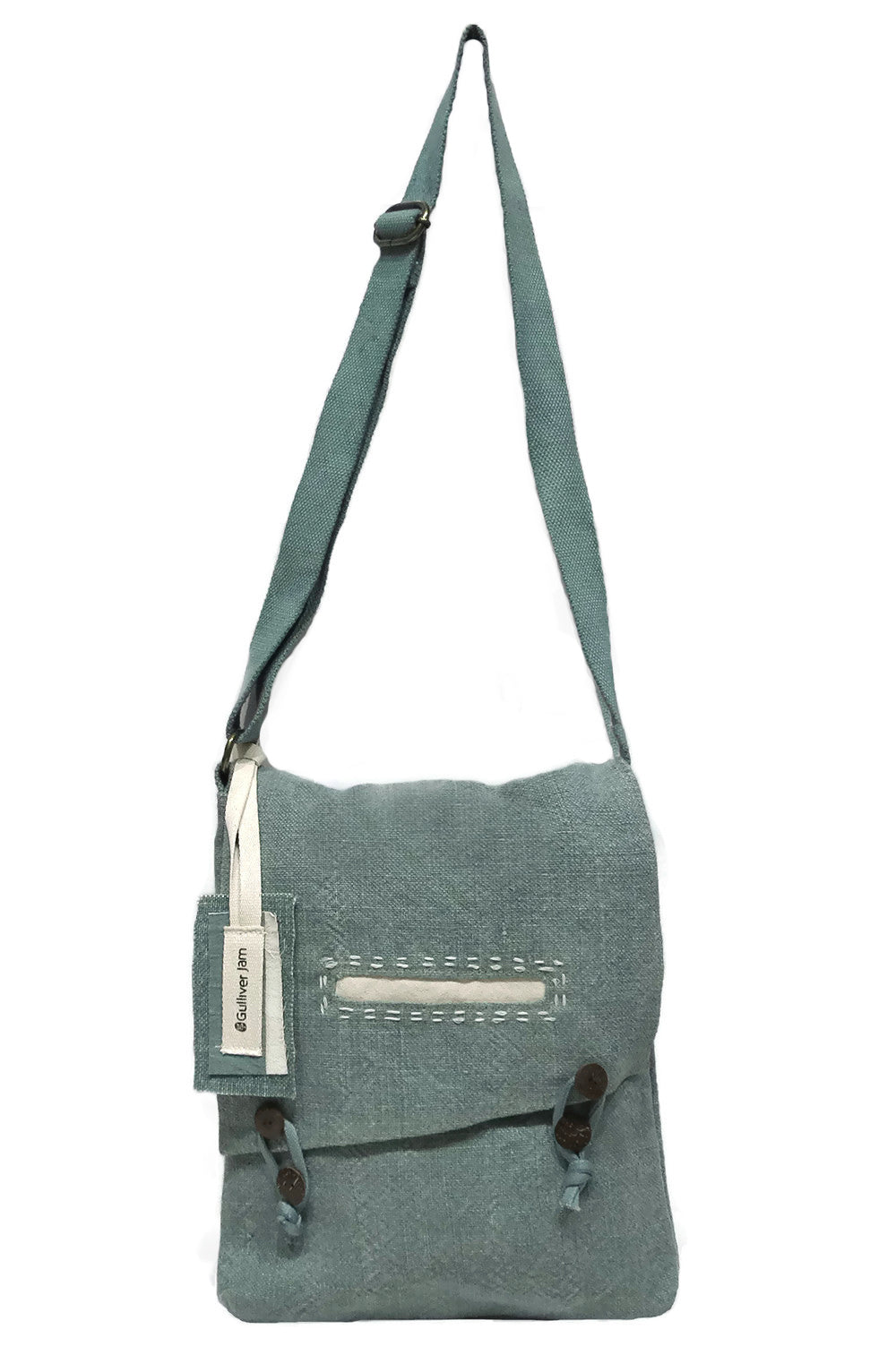 GJ Designs - Persian Blue Canvas Cross Shoulder Tote