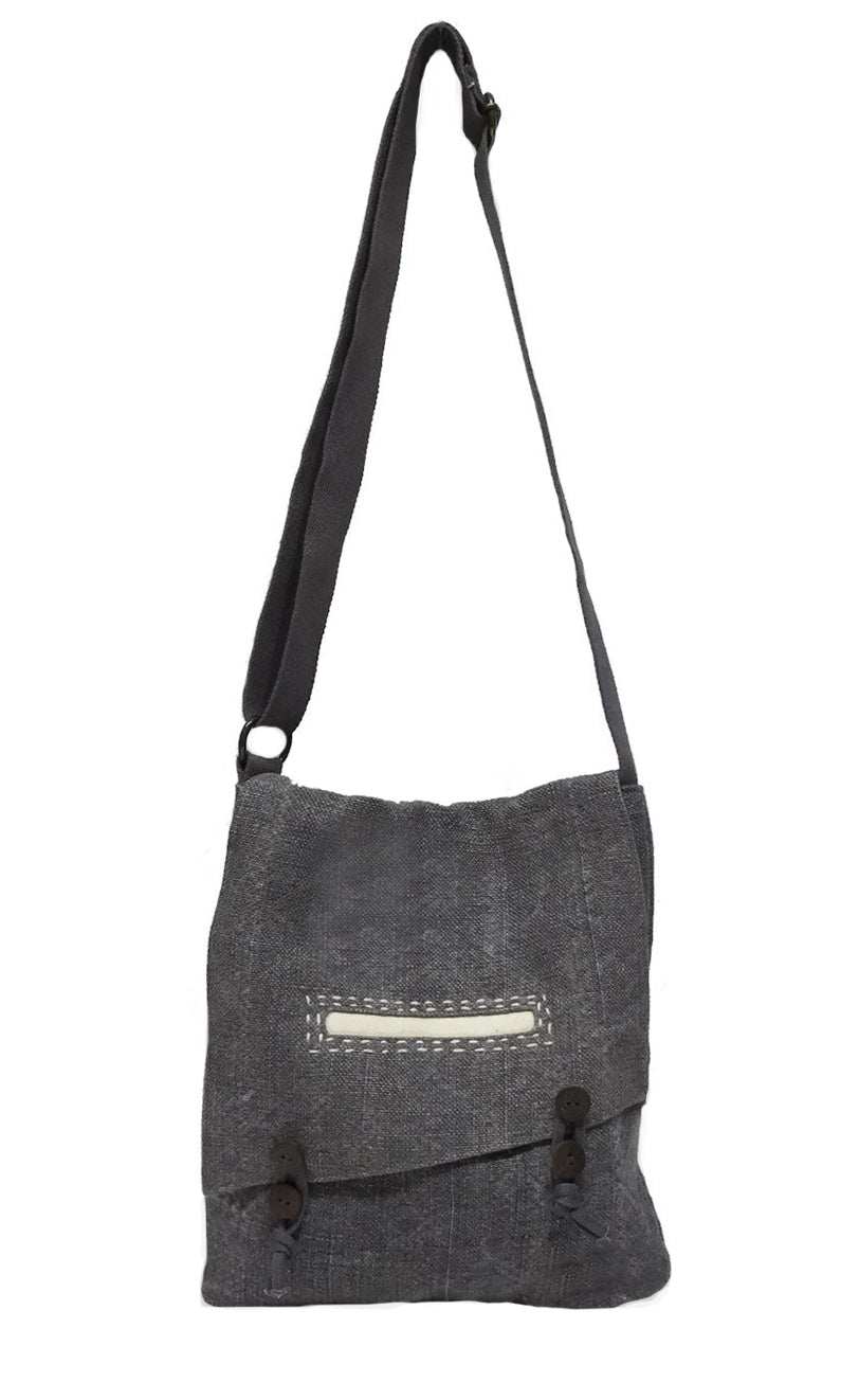Where The Wilde Things Are - Charcoal Canvas Cross Shoulder Tote