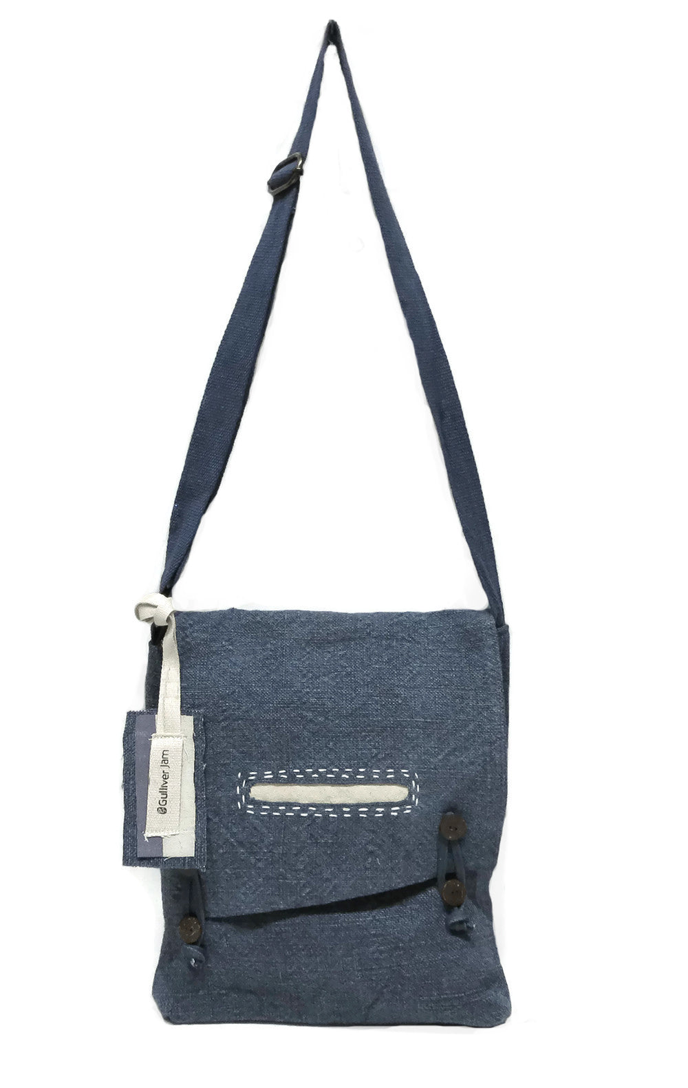 Where The Wilde Things Are - Denim Canvas Cross Shoulder Tote