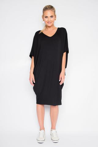 PQ Collection - Bamboo Miracle Dress in Black