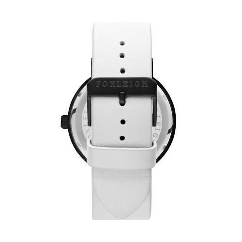 Foxleigh Black and White Leather Timepiece