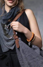 Where The Wilde Things Are - Charcoal Shoulder Bag