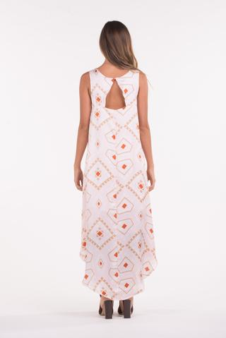 PQ - Cut Out Maxi Dress in Royal Mosaic