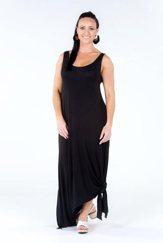 PQ Collection Bamboo Drop Dress in Black