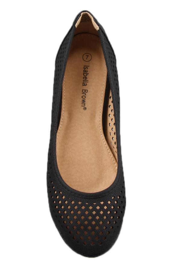 peggy minnie flat black shoe