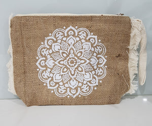 Mandala Hessian Clutch