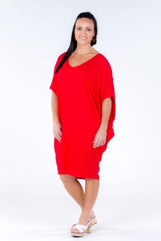 PQ - Bamboo Hitched Miracle Dress In Rouge
