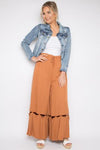 PQ Collection - Hitched Wide Leg Pants in Walnut