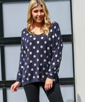 peggy minnie boho australia navy spotted top
