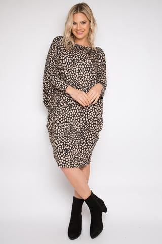 Pq Collection - Spotted Latte Miracle Dress