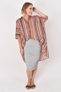 PQ Collection - Multicoloured Oversized Striped Shirt