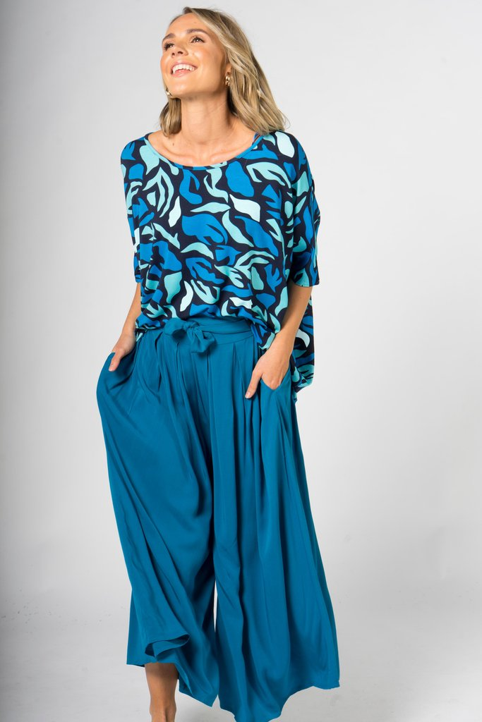 PQ Collection -Teal Flare Pants