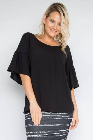 PQ Collection - Ornate Top in Black
