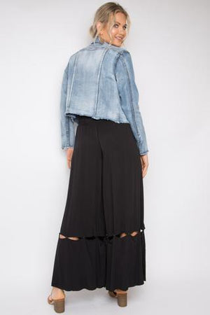 PQ Collection - Hitched Wide Leg Pants in Black