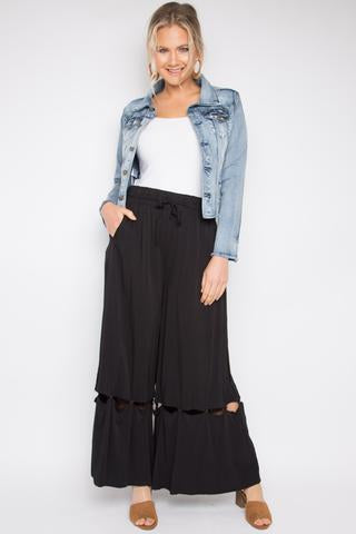 peggy minnie pq collection black wide pants