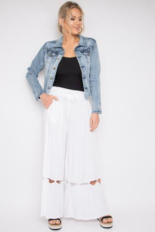 peggy minnie pq collection wide white pants