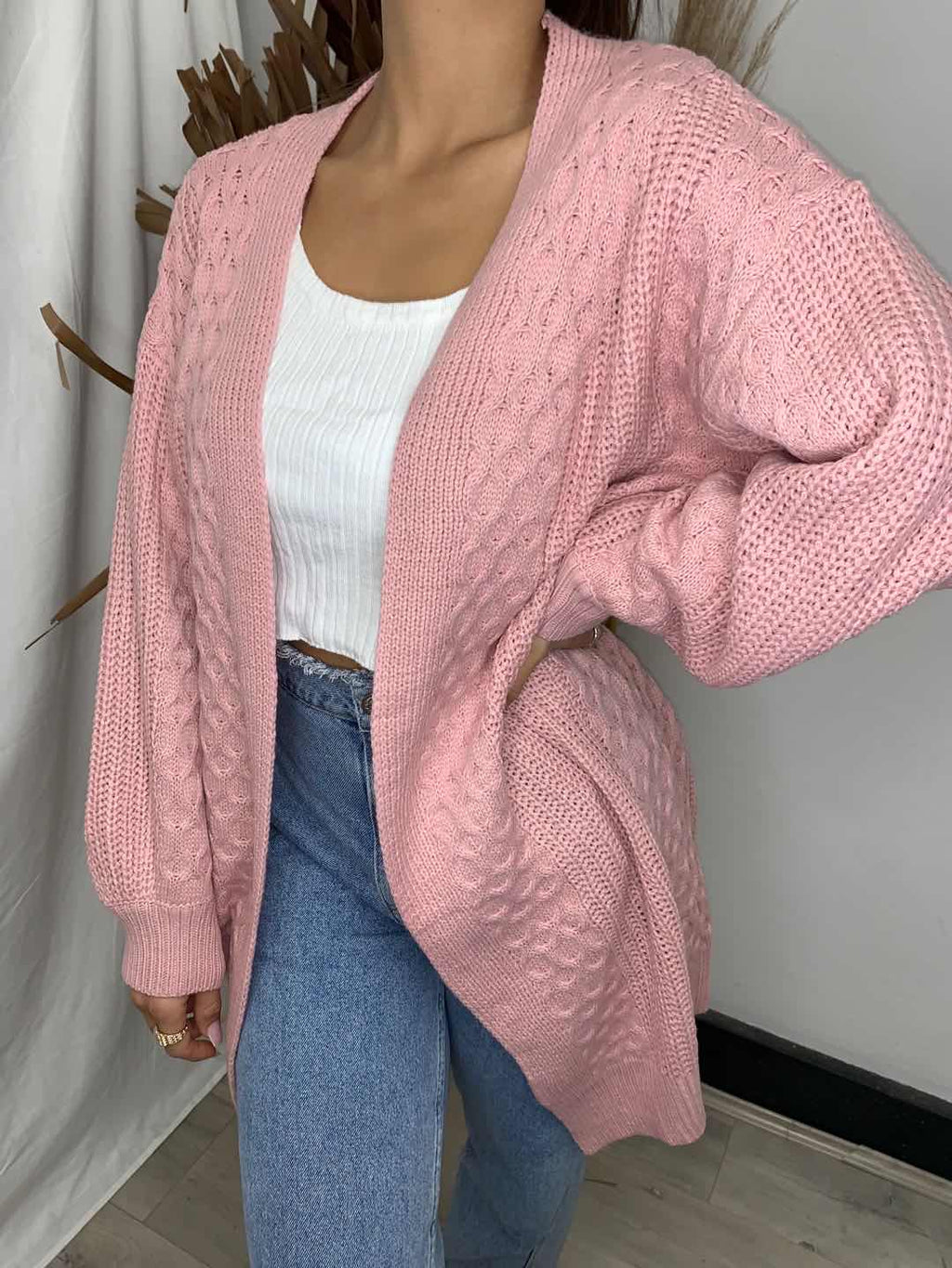 Pink Diamond Pink Cardigan