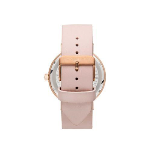 Foxleigh Rose Gold & Peach Leather Timepiece