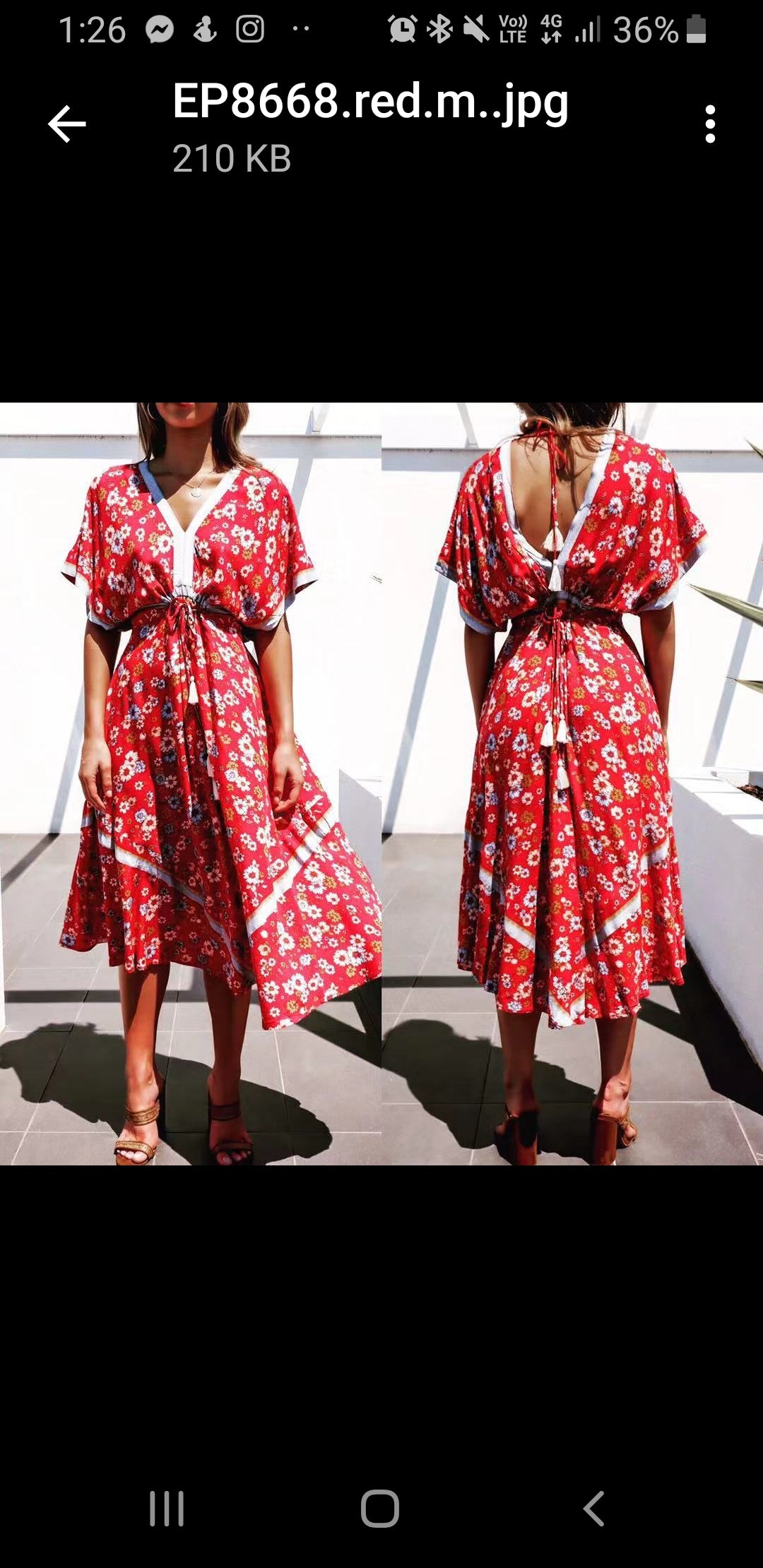 Pink Diamond - Red Floral Dress