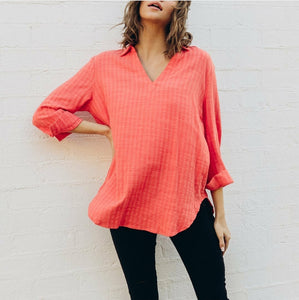 Label of Love - Watermelon Linen Top