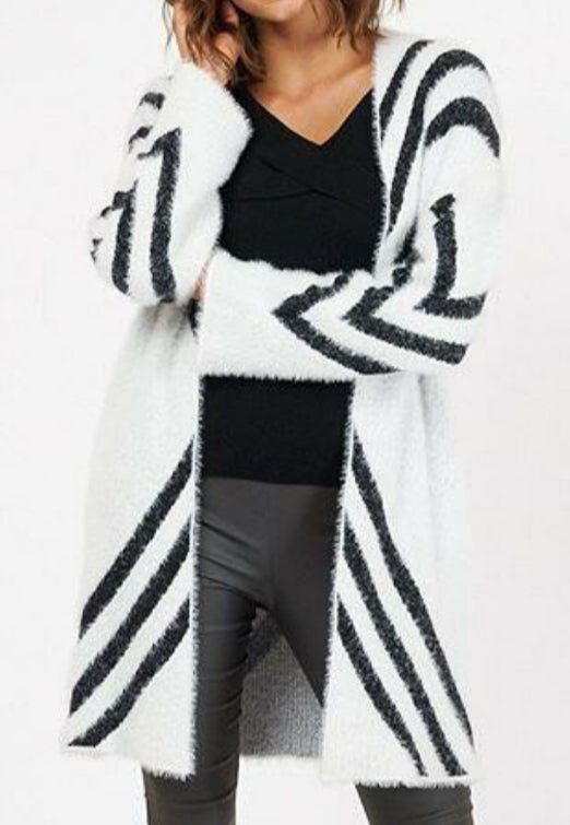 White Closet White and Black Cardi