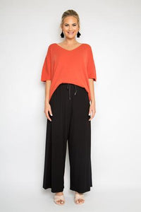 peggy minnie pq collection black bamboo pants