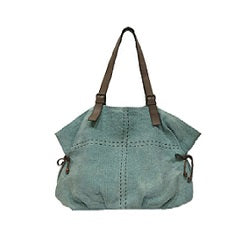 Where The Wilde Things Are - Jute Slouch Tote - Persian Blue