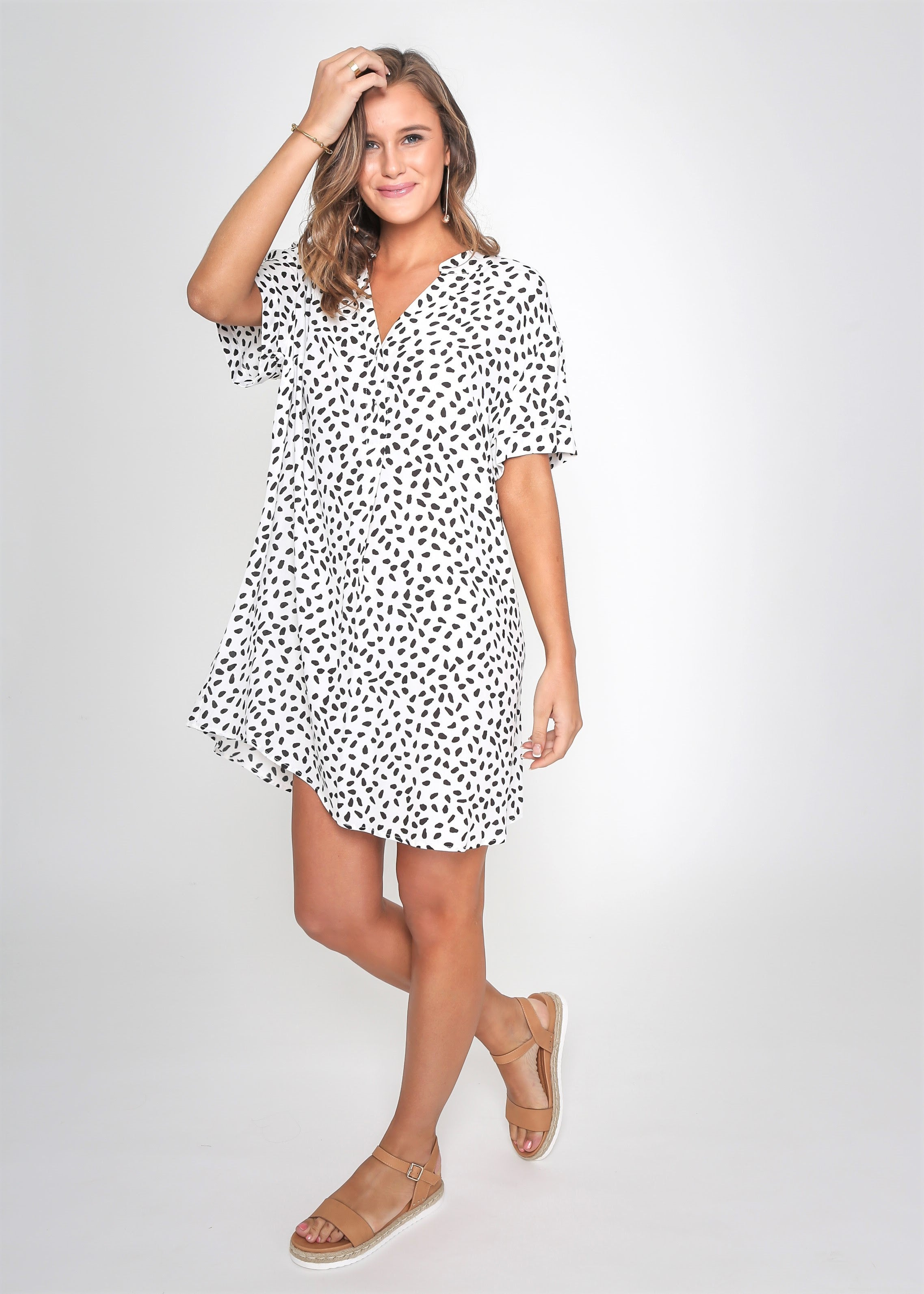 Leoni - Cheetah T-shirt Dress