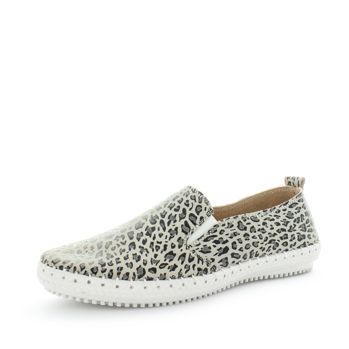 Just Bee Comfort Leopard Slip On Sneakers
