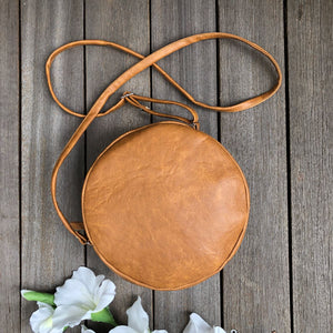 peggy minnie tan round shoulder bag