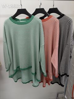Worthier - Mint Green Striped Knit