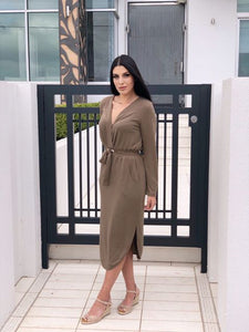 Pink Diamond - Khaki Dress