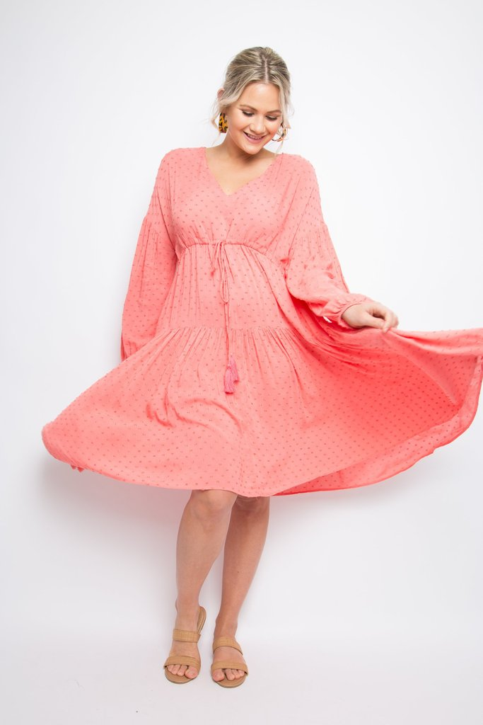 PQ Collection - Watermelon Dot Dress