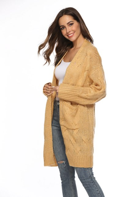 peggy minnie pink diamond mustard cardigan