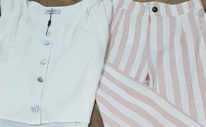 Ebby and I - Pink Striped Linen Pants