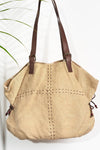 Where the Wilde Things Are - Jute Slouch Tote - Biscotti