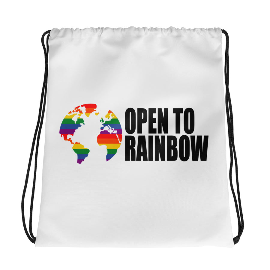 Open To Rainbow Drawstring bag