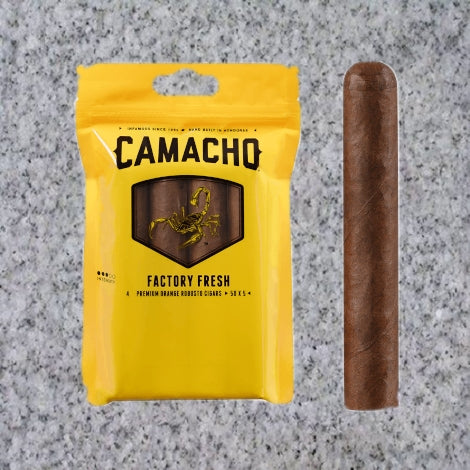 Camacho: YELLOW (CRIOLLO) ROBUSTO FRESH PACK - 4Noggins.com