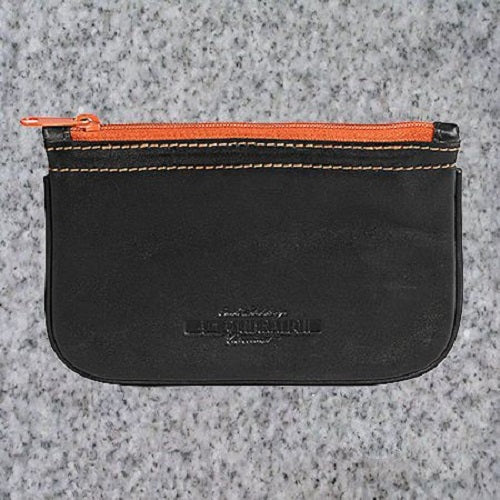 Eric Stokkebye: 4TH GENERATION LEATHER ZIPPER POUCH - BLACK - 4Noggins.com
