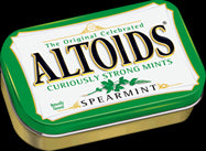 Altoids: SPEARMINT MINTS 1.76oz. Tin - 4Noggins.com