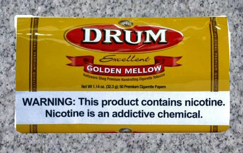 Drum: GOLDEN MELLOW POUCH 1.14oz (32.3g) - 4Noggins.com