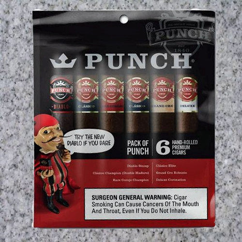 Punch: PACK OF PUNCH 6 CIGAR SAMPLER - 4Noggins.com