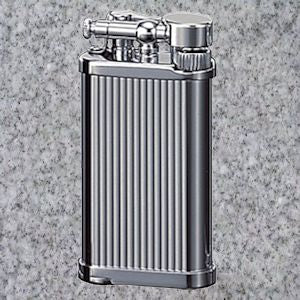IM Corona: Pipe Lighters: IM CORONA OLD BOY CHROME LINES - 4Noggins.com