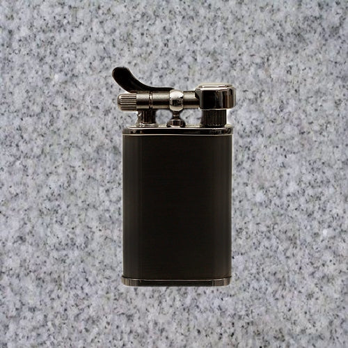 Kiribi Lighter: KABUTO SHORT BLACK NICKEL - 4Noggins.com