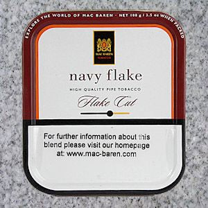 Mac Baren: NAVY FLAKE 100g - 4Noggins.com