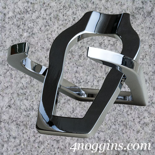 Chrome Metal Folding Pipe Stand - 4Noggins.com