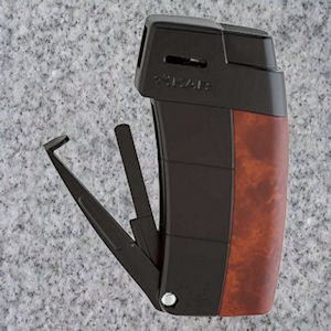 Xikar: Pipe Lighters: AMBOINA BURL RESOURCE LIGHTER - 4Noggins.com