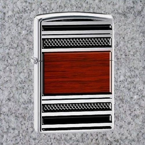 ZIPPO PIPE LIGHTER - STEEL AND WOOD - 4Noggins.com