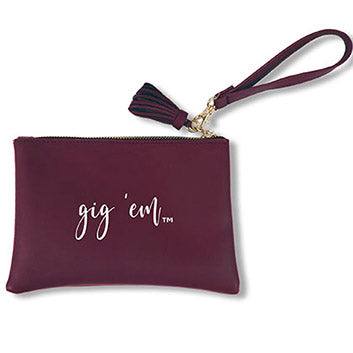 Texas A&M Tassel Wristlet