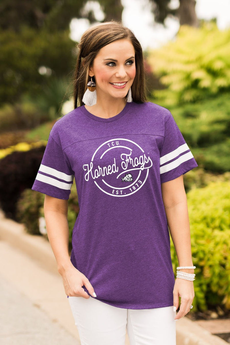 TCU Just My Stripe Tee